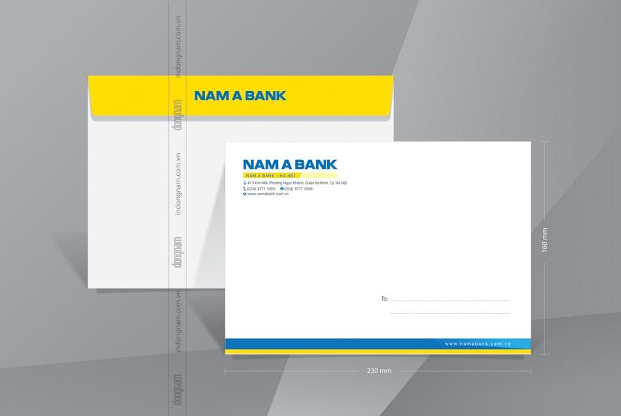 Mẫu phong bì A5 ngân hàng Nam Á Bank