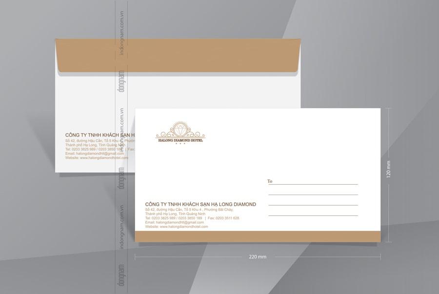 Mẫu phong bì A6 khách sạn Halong Diamond