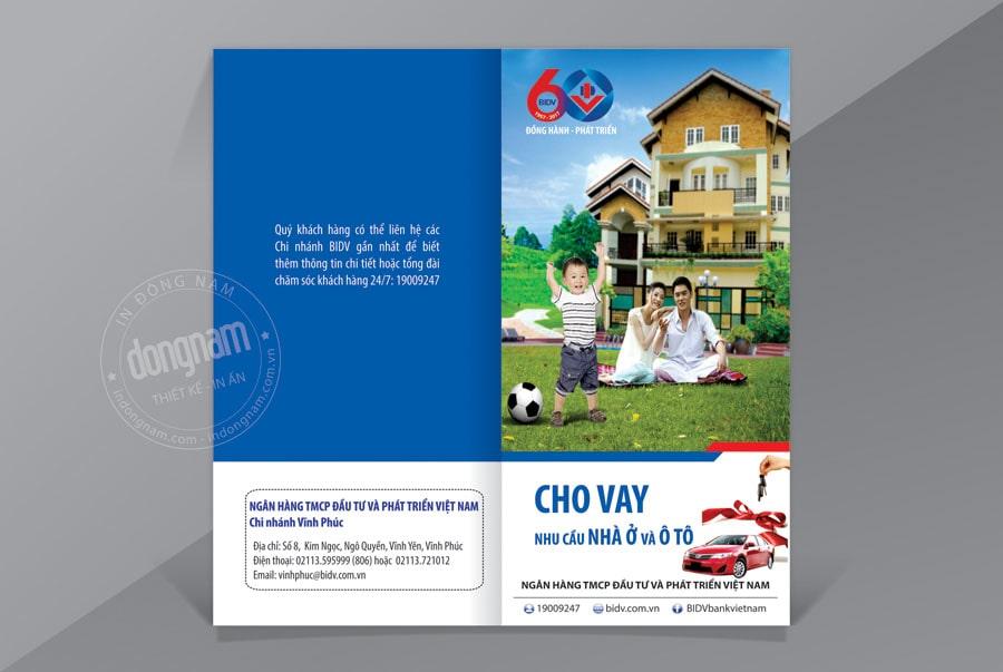 Mẫu tờ rơi ngân hàng BIDV