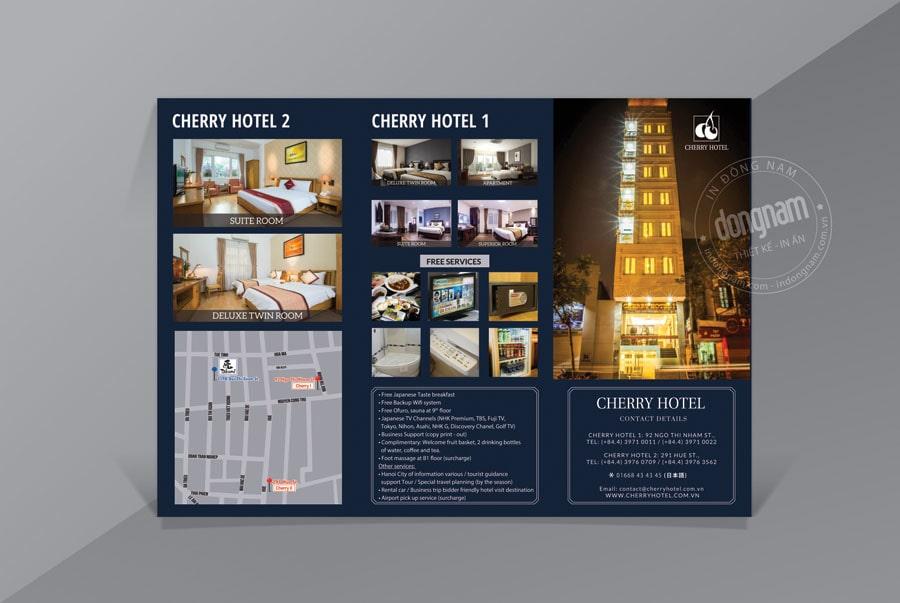 Mẫu tờ gấp - brochure khách sạn